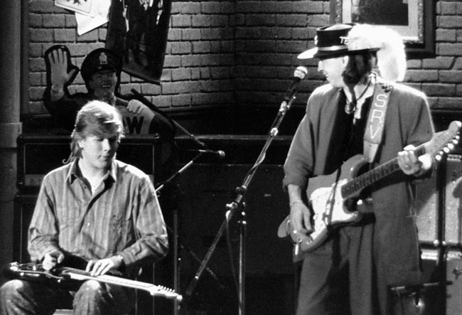 Jeff with Stevie Ray Vaughn