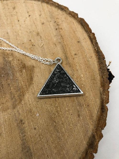 Reversible Metallic Triangle Resin Pendant