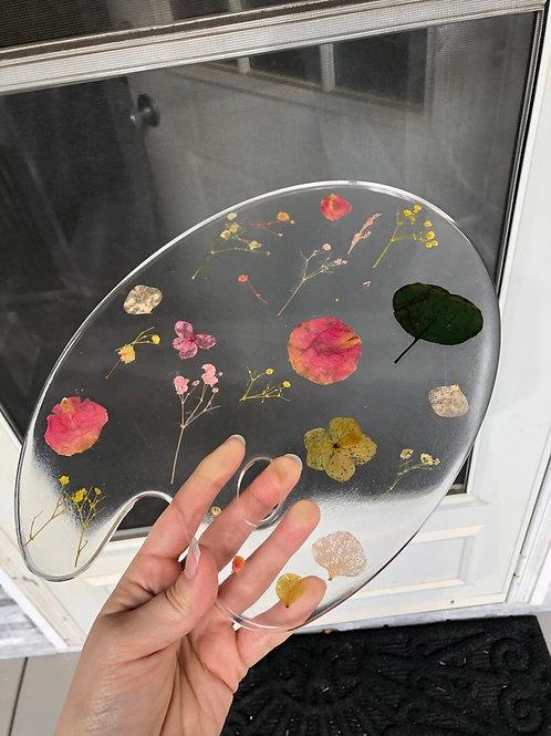 Custom Pressed Flower Art Palette, Gifts for Artists, Gifts for Women, Art Decor