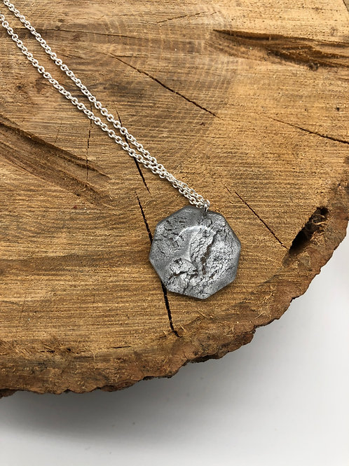 Metallic Marbled Resin Pendant