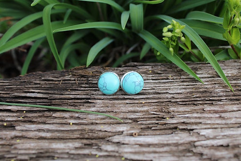 Turquoise Studs, Natural Gemstone Jewelry, Earrings, Gifts for Women, Turquoise
