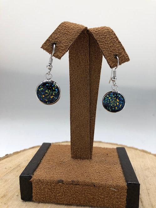 Kaleidoscope Druzy Dangle Earrings