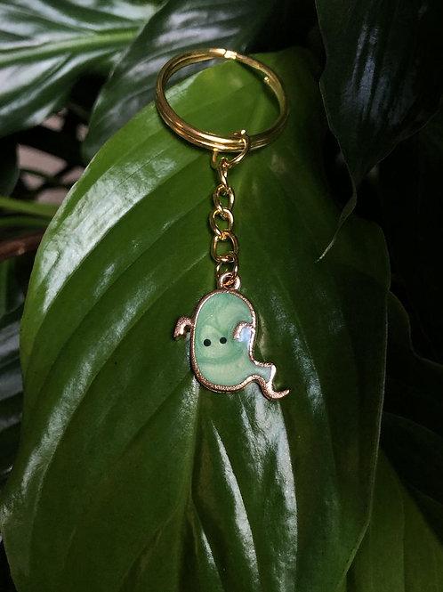 Cute Green Ghost Keychain