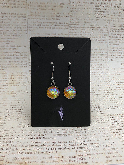 Yellow Mermaid Inspired Dangle Earrings