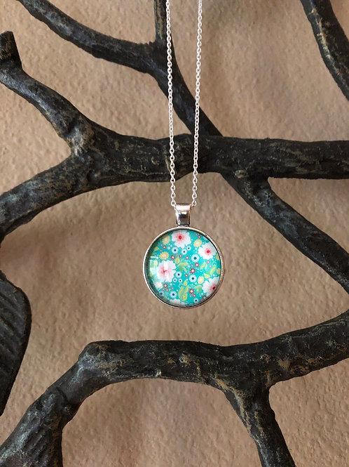 Fun & Floral Multi Color Pendant, Glass Necklace, Necklaces for Women