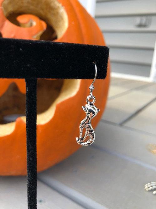Cute Halloween Cat Dangle Earrings