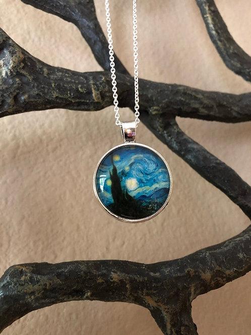 "Van Gogh ""Starry Night"" Inspired Pendant"
