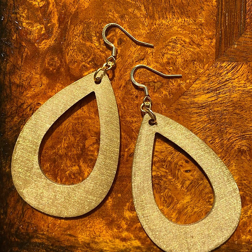 Hand-Painted Gold Open Statement Earrings