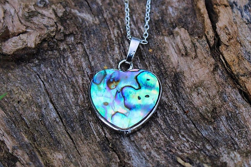 Abalone Necklace, Heart Necklace, Abalone Jewelry, Gifts for Her,Gifts for Women