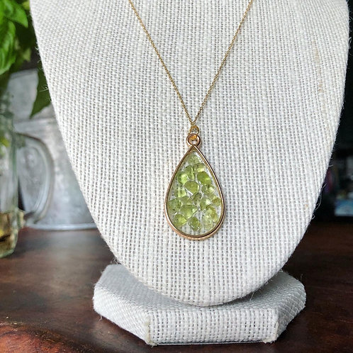 """Gemma Collection """"Peridot Passion"""" Necklace"""