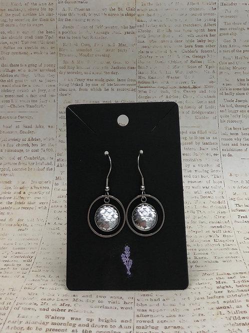Silver Mermaid Inspired Dangle Earrings
