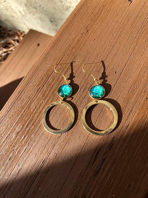 Van Gogh Inspired Earrings, Floral Earrings, Gifts For Artists, Van Gogh Jewelry
