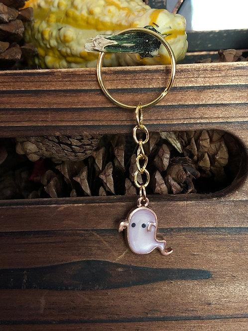 Cute Lavender Ghost Keychain