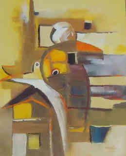 Guillaume Makani, huile sur toile, 40 x 50 cm - 250 € (2).JPG