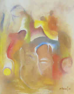 Guillaume Makani, huile sur toile, 40 x 50 cm - 250 € (3).JPG