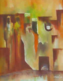 Guillaume Makani, huile sur toile, 40 x 50 cm - 250 € (1).JPG