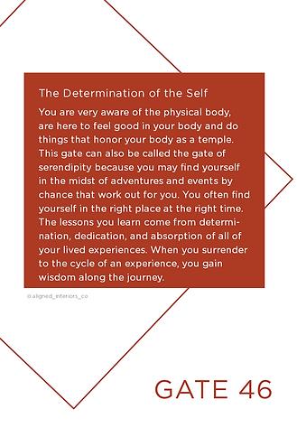 Human Design Gate 46 The Determination o