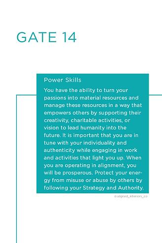 Human Design Gate 14 Power Skills.png
