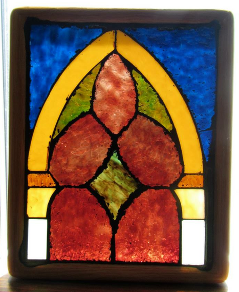 stained glass motif - in private collection