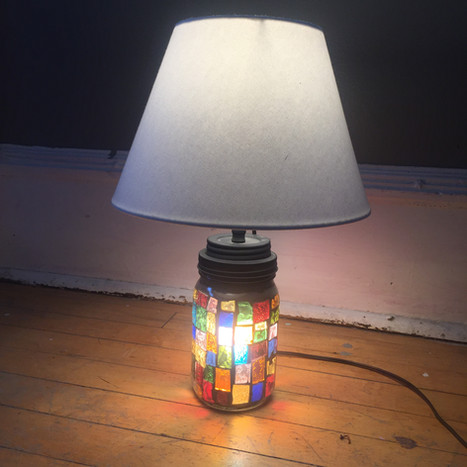 mosaic Mason jar lamp (in private collection)