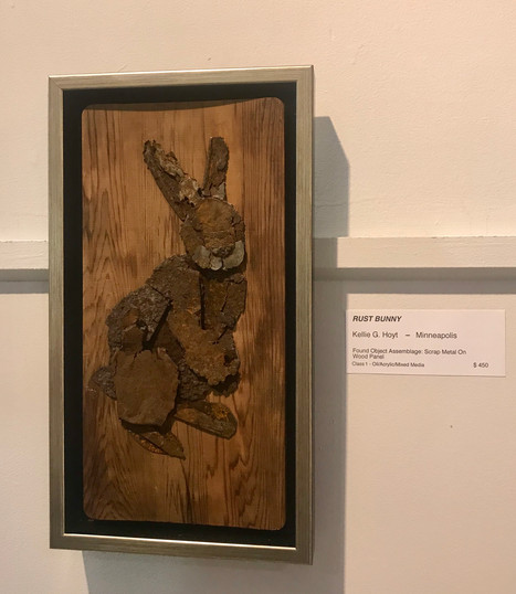 Rust Bunny - SOLD - featured in Fine Art exhibit at 2019 MN State Fair