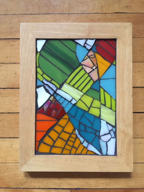 framed glass mosaic - available