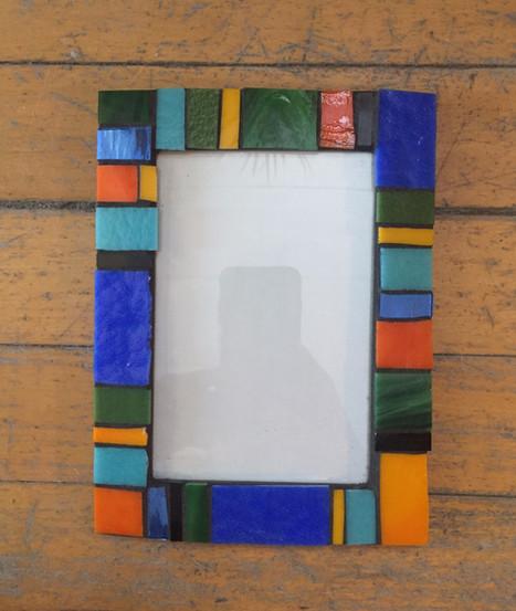 mosaic photo frame - Sold