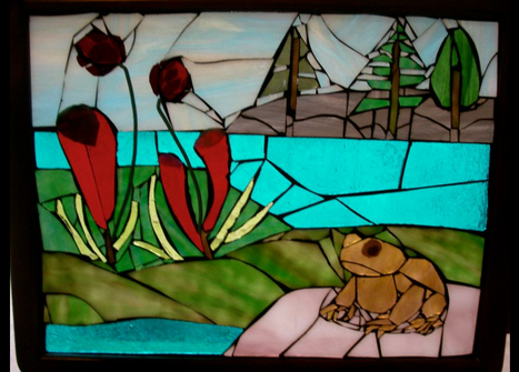 bog scene with toad (in private collection)