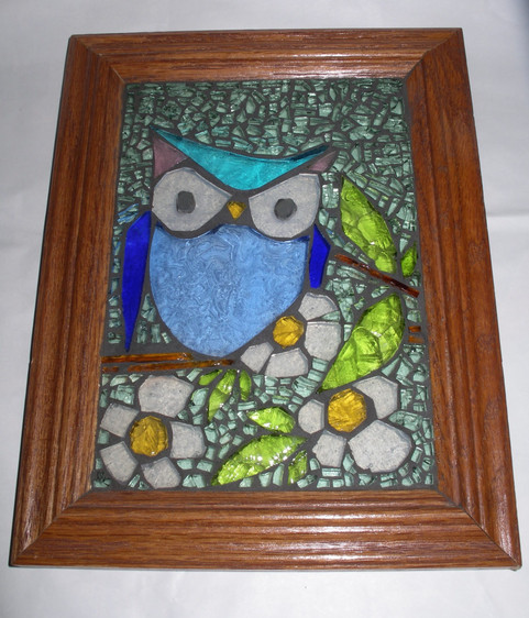 framed glass mosaic - in private collection