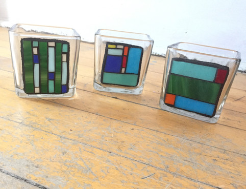 mosaic vases - at The Art Shoppe