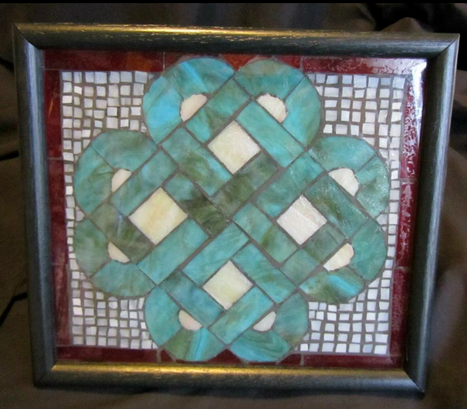 stained glass mosaic - in private collection