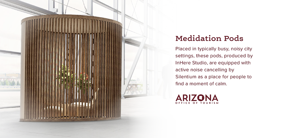 Placed in typically busy, noisy city settings, these pods, produced by InHere Studio, are equipped with active noise cancelling by Silentium as a place for people to find a moment of calm.d.png