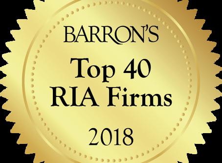 Stratos Named to Barron's Top 40 RIA Firms