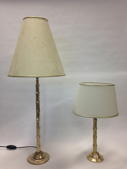 Large and small Bamboo table lamp