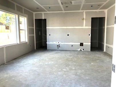 Hamilton Cottages community room under construction