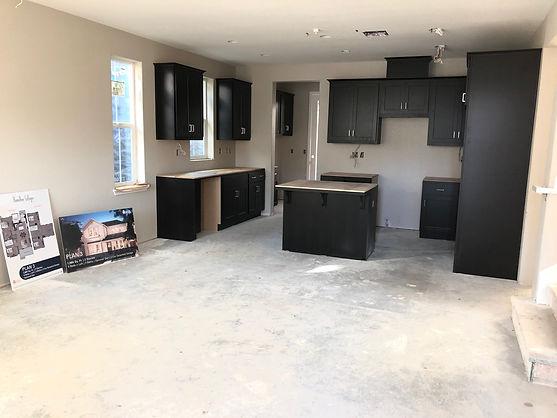 Hamilton Cottges Plan 3 kitchen under construction