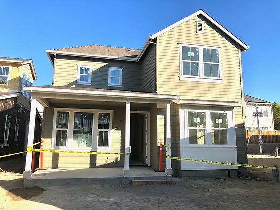 Hamilton Cottages Plan 3 under construction in Novato