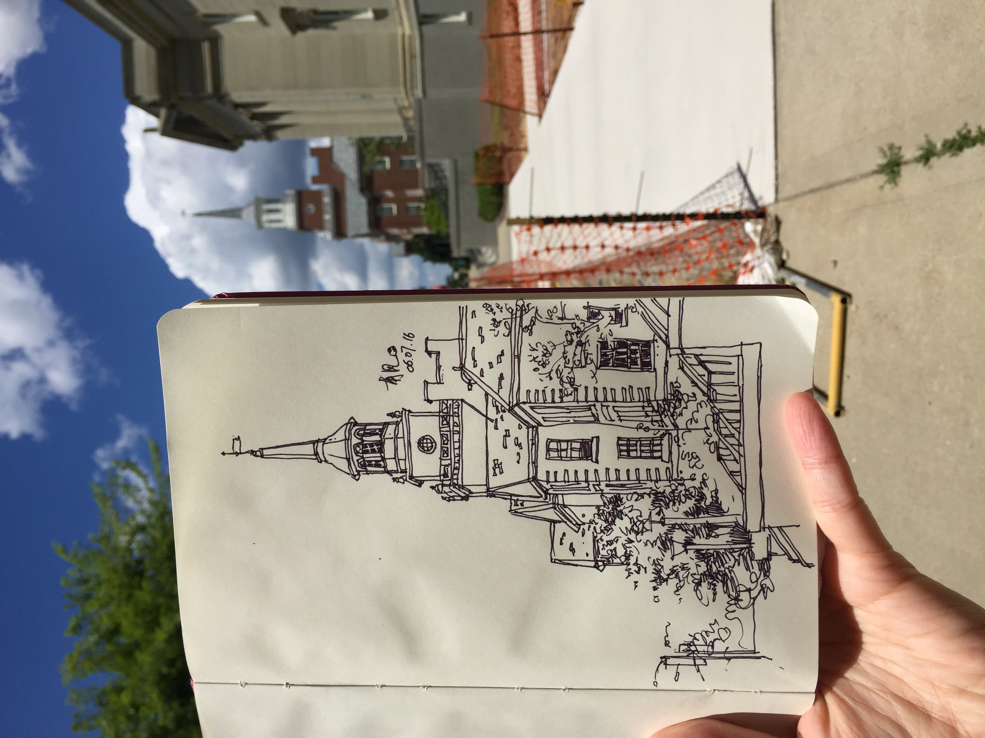 UC Campus on Moleskine pages