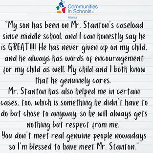 Parent Testimonial: Mr. Stanton