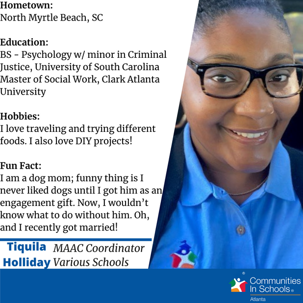 Meet Our Site Coordinator – Tiquila Holliday!