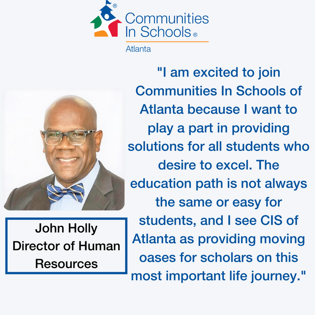 Communities In Schools of Atlanta Welcomes New HR Director!