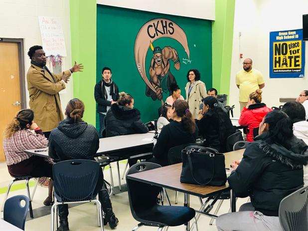 CIS of Atlanta CEO, Frank Brown Visits Cross Keys High School