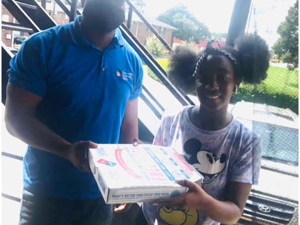 CIS Atlanta Site Coordinators Deliver Pizzas for Perfect Attendance 🍕