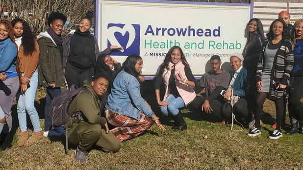 "On the Frontline! Students from North Clayton High School Participate in Holiday ""Choose Success"" Pr"