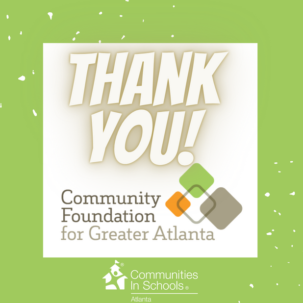 Thank you, Community Foundation for Greater Atlanta!