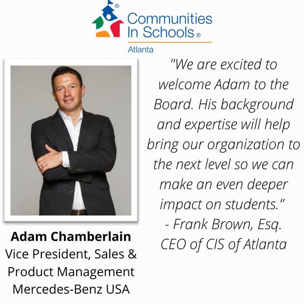 CIS of Atlanta Welcomes New Board Member: Adam Chamberlain