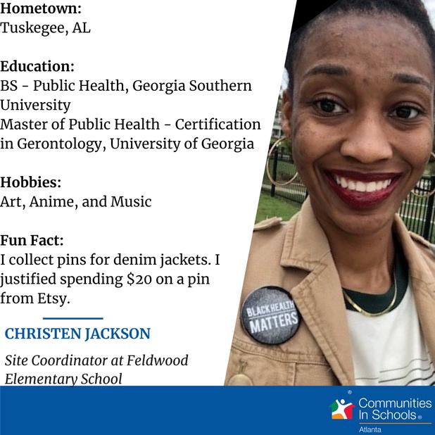 Meet Our Site Coordinator - Christen Jackson!