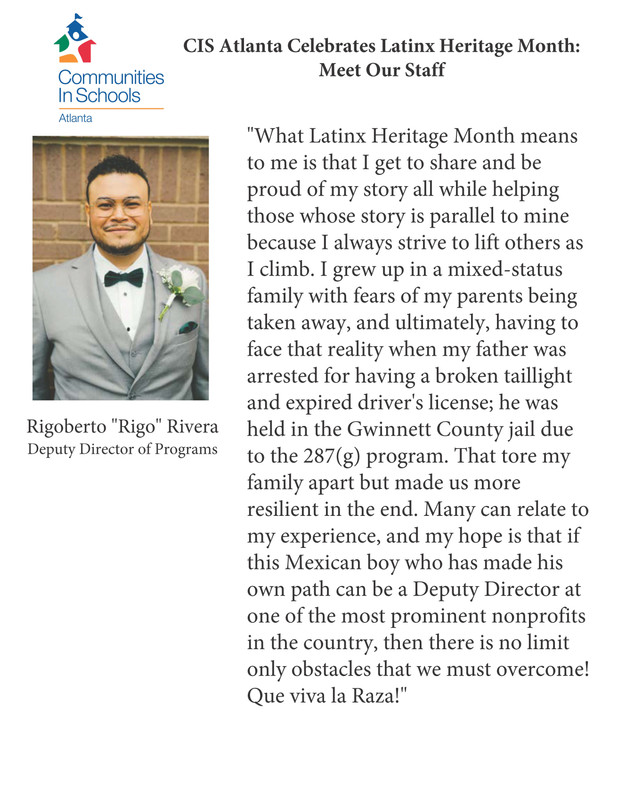 Latinx Heritage Month: Meet Our Staff, Rigo Rivera