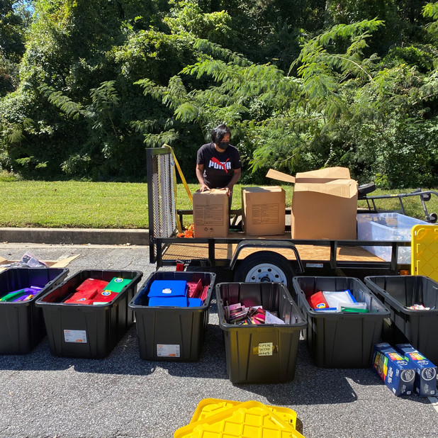 CIS of Atlanta Site Coordinators Donate and Distribute Supplies to Families