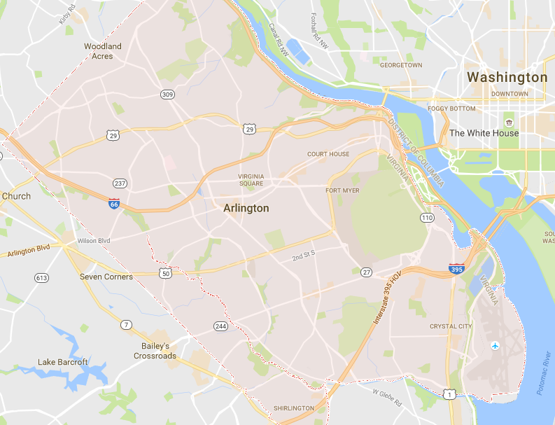 Ashton Virginia Map.Discover Arlington Va Neighborhoods